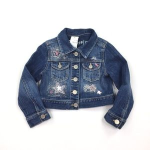 Baby Gap Jean Jacket Embroidery Girl Size 3